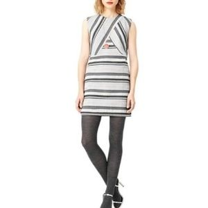 Kate Spade Saturday Gray Striped Popover Dress
